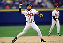 CIRCA 1997: Chipper Jones #10 of the Atlanta Braves fielding during a game from his 1997 season with the Atlanta Braves. Chipper Jones played for 19 years, all with the Atlanta Braves, was a 8-time All-Star,1999 National League MVP and was inducted to the Baseball Hall of Fame in 2018.(Photo by: 1997 SportPics)  *** Local Caption *** Chipper Jones