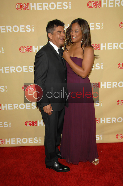 George Lopez and Laila Ali<br />