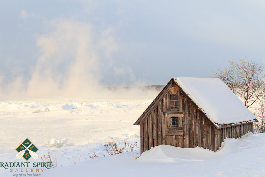 On a subzero, February morning, the sea smoke was thick and ice stacks were on the move at Stoney Point.