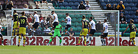 Preston North End's Jordan Storey clears as Southampton attack<br /> <br /> Photographer Stephen White/CameraSport<br /> <br /> Football Pre-Season Friendly - Preston North End v Southampton - Saturday July 20th 2019 - Deepdale Stadium - Preston<br /> <br /> World Copyright © 2019 CameraSport. All rights reserved. 43 Linden Ave. Countesthorpe. Leicester. England. LE8 5PG - Tel: +44 (0) 116 277 4147 - admin@camerasport.com - www.camerasport.com