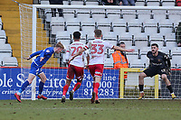 Charlie Kirk of Crewe Alexandra scores the second goal for his team during Stevenage vs Crewe Alexandra, Sky Bet EFL League 2 Football at the Lamex Stadium on 10th March 2018