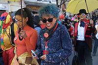 BOGOTÁ-COLOMBIA-19-03-2014. Desfile  del XIV Festival Iberoamericano de Teatro que se realizara en Bogotá entre el 4 y el 20 de abril de 2014./ Parade of the XIV Ibero-American Theater Festival to be Helm in Bogota  between 4 and 20, 2014.  Photo: VizzorImage/ Diana Sánchez /Staff