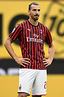 Zlatan Ibrahimovic of AC Milan during the Serie A football match between AC Milan and Atalanta BC at stadio Giuseppe Meazza in Milano ( Italy ), July 24th, 2020. Play resumes behind closed doors following the outbreak of the coronavirus disease. <br /> Photo Image Sport / Insidefoto