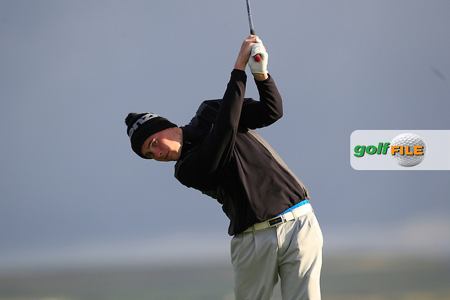 Robert Brazill (Naas) on the 2nd tee during Round 2 of the South of Ireland Amateur Open Championship at LaHinch Golf Club on Thursday 23rd July 2015.<br /> Picture:  Golffile | Thos Caffrey
