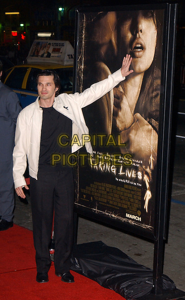 OLIVIER MARTINEZ.World Premiere of Taking Lives held at The Grauman's Chinese Theatre in Hollywood, California .16 March 2004.*UK Sales Only*.full length, full-length, black ribbon.www.capitalpictures.com.sales@capitalpictures.com.©Capital Pictures.