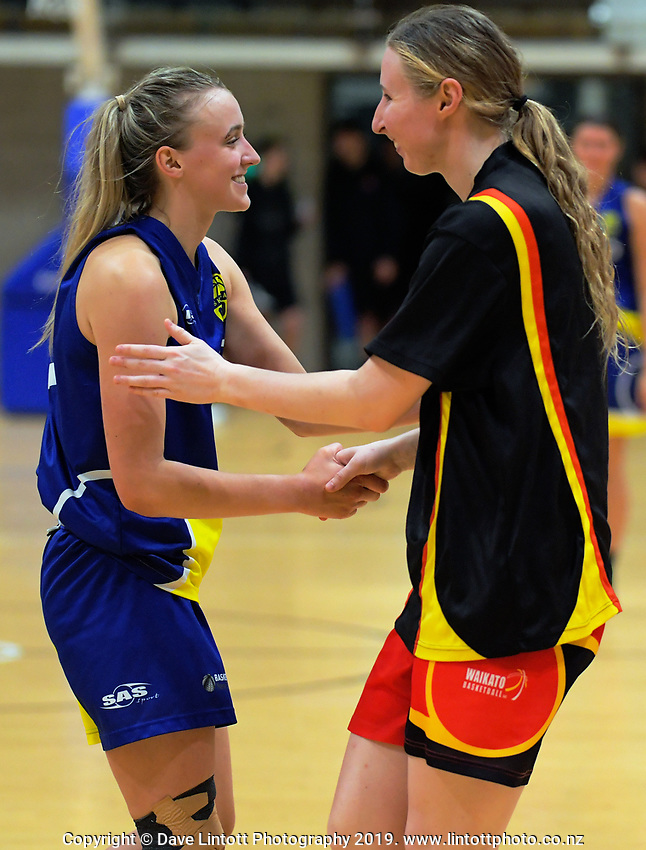 Action from the National Under-23 Basketball Championship women's final between Waikato and Otago at Te Rauparaha Arena in Porirua, New Zealand on Saturday, 10 August 2019. Photo: Dave Lintott / lintottphoto.co.nz