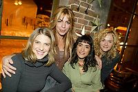 Montreal (Qc) CANADA - December 2007 file photo-<br /> -Helene Florent,<br /> -Anne Cassabonne,<br /> -GeneviZvre Rochette,<br /> -Brigitte Lafleur, at the<br /> launch of La galere (TV) DVD.<br /> <br /> <br /> <br /> Alliance Vivafilm, Productions RCB inc.,et Cirrus ont lancé mercredi 5 déc<br /> launch of La galere (TV) DVD,<br /> <br /> Alliance Vivafilm, Productions RCB inc.,et Cirrus ont lancé mercredi 5 décembre le coffret DVD de la premiZre saison de la série « La GalZre C, diffusée sur les ondes de Radio-Canada. Ont participé ? ce lancement : lOauteure Renée-Claude Brazeau, la réalisatrice Sophie Lorain, et la plupart des comédiennes et comédiens dont Anne Casabonne, HélZne Florent, Brigitte Lafleur et GeneviZvre Rochette.<br /> photo (c) Pierre Roussel- Images Distribution
