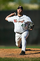 Winston-Salem relief pitcher Brian Omogrosso (49) in action versus Frederick at Ernie Shore Field in Winston-Salem, NC, Sunday, May 6, 2007
