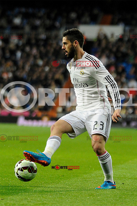 Real Madrid´s Isco during 2014-15 La Liga match between Real Madrid and Levante UD at Santiago Bernabeu stadium in Madrid, Spain. March 15, 2015. (ALTERPHOTOS/Luis Fernandez) /NORTEphoto.com