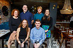 Lixnaw hurler Colin Sheehy celebrating his 21st birthday in the Ashe Hotel on Saturday. Seated : Juliette Clifford and Colin Sheehy. Back l to r: Denise and Kieran Sheehy, Brian O'Riordan and Megan Sheehy.