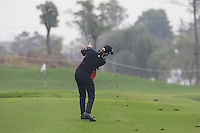 Michael Hoey (NIR) plays his 2nd shot on the 2nd hole during Thursday's Round 1 of the 2014 BMW Masters held at Lake Malaren, Shanghai, China 30th October 2014.<br /> Picture: Eoin Clarke www.golffile.ie