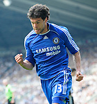 Chelsea's Michael Ballack celebrates his goal. during the Premier League match at the St James' Park Stadium, Newcastle. Picture date 5th May 2008. Picture credit should read: Richard Lee/Sportimage