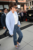 www.acepixs.com<br /> September 10, 2017 New York City<br /> <br /> Victoria Beckham was seen going to Balthazar in New York City on September 10, 2017.<br /> <br /> Credit: Kristin Callahan/ACE Pictures<br /> <br /> Tel: 646 769 0430<br /> Email: info@acepixs.com