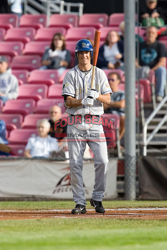 July 8, 2009: Tri-City Dust Devils outfielder Tim Wheeler at-bat during a Northwest League game against the Salem-Keizer Volcanoes at Volcanoes Stadium in Salem, Oregon.