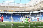 20.06.2020, xmeix, 1.Fussball Bundesliga, TSG 1899 Hoffenheim - 1.FC UNion Berlin, empor. v.l.n.r, <br /> das 4:0 für Hoffenheim durchChristoph Baumgartner (TSG 1899 Hoffenheim) gegen Moritz Nicolas (1.FC Union Berlin)<br /> <br /> <br /> <br /> Foto: Sascha Meiser/APF/Pool/PIX-Sportfotos<br /> <br /> Nur für journalistische Zwecke!<br /> Only for editorial use!<br /> Nutzungsbedingungen: http://poolbilder.de/nutzungsvereinbarung.pdf