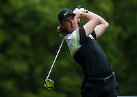 24.05.2015. Wentworth, England. BMW PGA Golf Championship. Final Round.  Tommy Fleetwood [ENG] starts the day three shots off the lead.  Tee shot 3rd hole during the final round of the 2015 BMW PGA Championship from The West Course Wentworth Golf Club
