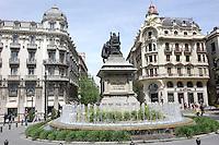 Plaza de Isabel la Católica in Granada, Spain