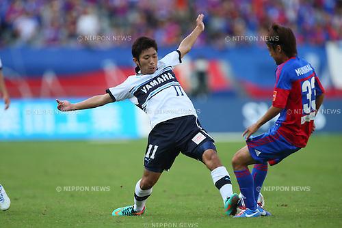 Takuya Matsuura (Jubilo), .SEPTEMBER 29, 2012 - Football /Soccer : .2012 J.LEAGUE Division 1 .between F.C. Tokyo 2-1 Jubilo Iwata .at Ajinomoto Stadium, Tokyo, Japan. .(Photo by YUTAKA/AFLO SPORT) [1040]