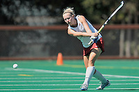 Stanford, CA - SEPTEMBER 27:  Midfielder Jaimee Erickson #4 of the Stanford Cardinal during Stanford's 7-0 win over the Pacific Tigers on September 27, 2008 at the Varsity Field Hockey Turf in Stanford, California.