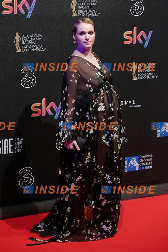 Caterina Shulha <br /> Roma 27-03-2017. Premio David di Donatello 2017.<br /> Rome March 27th 2017. David di Donatello ceremony 2017. <br /> Foto Samantha Zucchi Insidefoto
