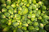 Brussels sprouts are seen on sale in a grocery store in New York on Friday, February 17, 2012. (© Richard B. Levine)
