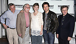 Doug Hughes (Director), Thomas Meehan (Book), Jill Paice, Julian Ovenden & Maury Yeston (Music & Lyrics).attending the Meet & Greet for The Roundabout Theatre Company's off Broadway Production of 'Death Takes A Holiday' in New York City.