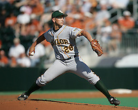 Baylor RHP Willie Kempf delivers a pitch against Texas on May 3rd, 2008. Photo by Andrew Woolley / Four Seam Images