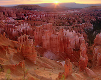 73075048 sunrise over the hoodoods in the silent city from sunset point in bryce canyon national park utah