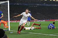 Esultanza gol Edin Dzeko goal celebration<br /> Londra 18-10-2017 Stamford Bridge Football Champions League 2017/2018 Chelsea - Roma <br /> Foto Gino Mancini / Insidefoto