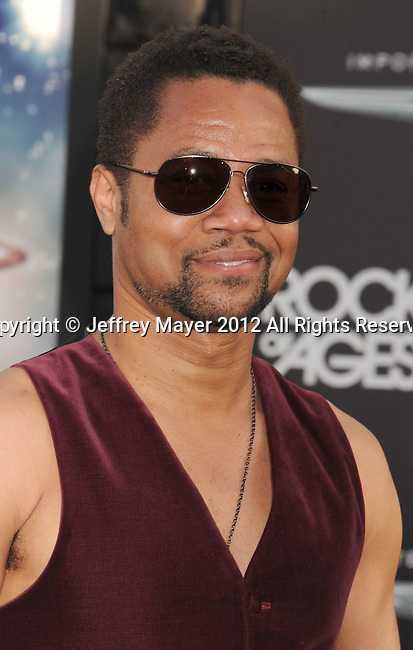 HOLLYWOOD, CA - JUNE 08: Cuba Gooding Jr. arrive at the 'Rock Of Ages' - Los Angeles Premiere at Grauman's Chinese Theatre on June 8, 2012 in Hollywood, California.