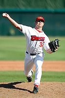 Taylor Kinzer of the Orem Owlz (2009 Pioneer League) playing against the Casper Ghosts in Orem, UT - 07/26/2009..Photo by:  Bill Mitchell/Four Seam Images..