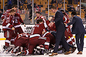 Ty Pelton-Byce (Harvard - 11), Michael Lackey (Harvard - 35) - The Harvard University Crimson defeated the Boston University Terriers 6-3 (EN) to win the 2017 Beanpot on Monday, February 13, 2017, at TD Garden in Boston, Massachusetts.
