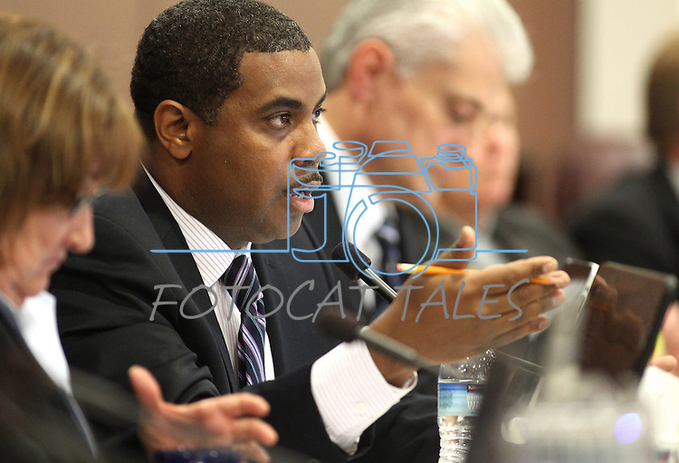 Nevada Senate Majority Leader Steven Horsford, D-North Las Vegas, speaks in committee on Tuesday morning, May 10, 2011, at the Legislature in Carson City, Nev..Photo by Cathleen Allison