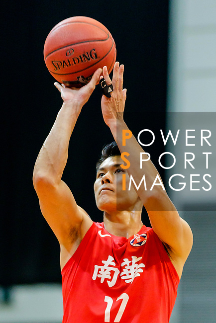 Wong Tak Man #17 of SCAA Men's Basketball Team concentrates prior to a free throw during the Hong Kong Basketball League game between Eastern Long Lions and SCAA at Southorn Stadium on May 29, 2018 in Hong Kong. Photo by Yu Chun Christopher Wong / Power Sport Images