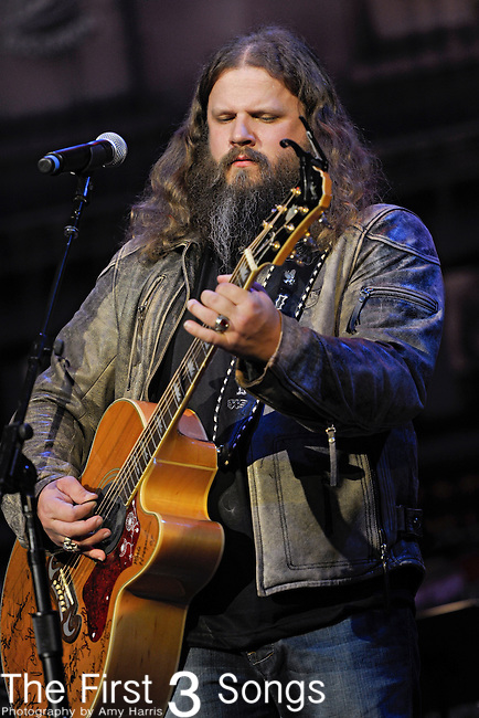 Jamey Johnson performs at the Ryman Auditorium for Tootsie's Orchid Lounge 50th Anniversary Celebration in Nashville, Tennessee.