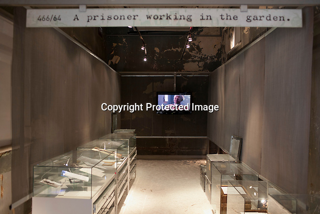JOHANNESBURG, SOUTH AFRICA: A view a Nelson Mandela museum/room at Constitution Hill in Johannesburg, South Africa. Correspondence from Mandels's time in prison is displayed in the room. (Photo by Per-Anders Pettersson )