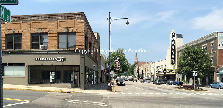 TORRINGTON< CT - 12 June 2015-062115CH2-- Performance HUB USA, a non profit musical education organization, sits across the street from the Warner Theatre. Owner Jay Roberts said he hopes to promote a sold music community in the city. Carrie Grace Henderson Republican-American