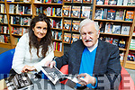 Kate Palmer with John Cleary at his book signing at O'Mahonys Bookshop in Tralee on Saturday.