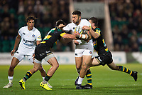 Matt Banahan of Bath Rugby takes on the Northampton Saints defence. Aviva Premiership match, between Northampton Saints and Bath Rugby on September 15, 2017 at Franklin's Gardens in Northampton, England. Photo by: Patrick Khachfe / Onside Images