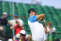 Joaquin Niemann (CHI) tees off the 1st tee to start his match during Friday's Round 2 of the 117th U.S. Open Championship 2017 held at Erin Hills, Erin, Wisconsin, USA. 16th June 2017.<br /> Picture: Eoin Clarke | Golffile<br /> <br /> <br /> All photos usage must carry mandatory copyright credit (&copy; Golffile | Eoin Clarke)