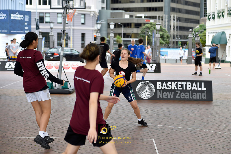 3 on 3 Game, FIBA World Cup Basketball Qualifier - NZ Tall Blacks v Syria at TSB Bank Arena, Wellington, New Zealand on Sunday 2 2018. <br />