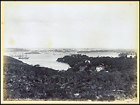 BNPS.co.uk (01202 558833)<br /> Pic: Nosb&uuml;sch&amp;Stucke/BNPS<br /> <br /> Sydney from Shell Cove.<br /> <br /> A stunning collection of photographs of Sydney decades before the iconic harbour bridge and opera house were built has been unearthed after 129 years.<br /> <br /> The black and white photo album captures the bustling city centre, picturesque main harbour and famous beaches of the future tourist hot-spot. <br /> <br /> The photos were taken by celebrated Australian photographer Henry King in 1888 who was born in England but emigrated to Australia at a young age and spent the rest of his life there.<br /> <br /> More recently they have fallen into the hands of a German collector who has decided to put them on the market and they are tipped to sell for &pound;1,800.<br /> <br /> Many of Sydney's most recognisable landmarks including Manly beach and Coogee bay look very different to what backpackers would encounter today.<br /> <br /> King also took various photos of Circular Quay - the city's main harbour - but missing from them are images of the Sydney Harbour Bridge and Sydney Opera House as these landmarks were both not built until well into the 20th century.