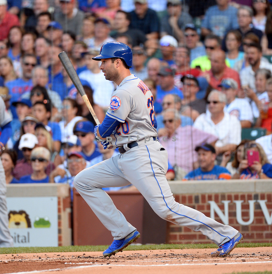 New York Mets Neil Walker (20) during a game against the Chicago Cubs on July 19, 2016 at Wrigley Field in Chicago, IL. The Mets beat the Cubs 2-1.