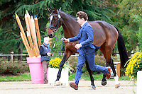 AUS-Christopher Burton with Fire Fly during the CCI1*6YO First Horse Inspection at 2016 Mondial du Lion FEI World Breeding Eventing Championships for Young Horses. Wednesday 19 October. Copyright Photo: Libby Law Photography