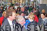 LABOUR: The Labour party leader Eamon Gilmore with north Kerry candidate Arthur Spring and nephew Daniel Spring on the streets of Tralee on Friday.
