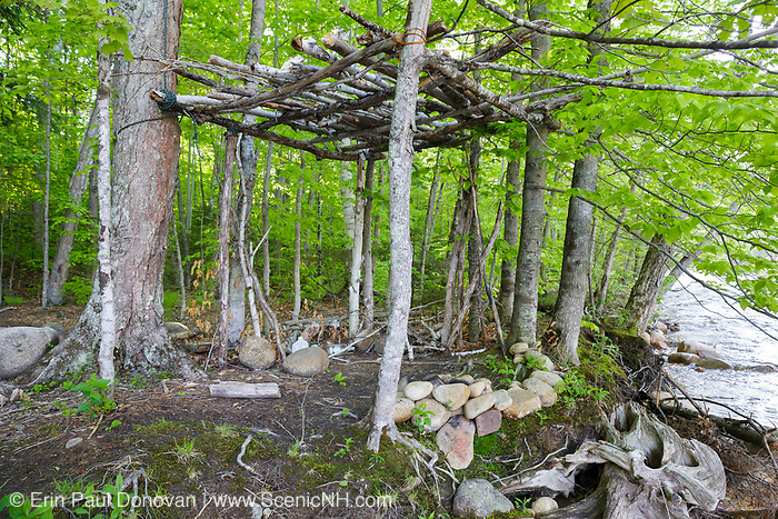 Abandoned campsite along the Bondcliff Trail in the Pemigewasset Wilderness of the White Mountains, New Hampshire.