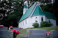 St. John's Church, site of William SKiles tomb, in VAlle Crucis, NC.