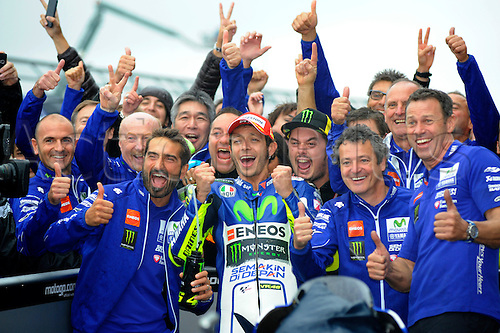 30.08.2015. Silverstone, Northants, UK. OCTO British Grand Prix. Valentino Rossi winner of the Grand prix.