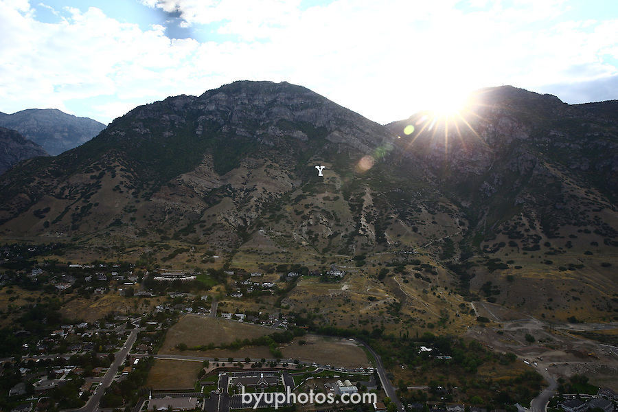 1309-22 0139<br /> <br /> 1309-22 BYU Campus Aerials<br /> <br /> Brigham Young University Campus West looking East, Provo, Sunrise, Y Mountain<br /> <br /> September 6, 2013<br /> <br /> Photo by Jaren Wilkey/BYU<br /> <br /> &copy; BYU PHOTO 2013<br /> All Rights Reserved<br /> photo@byu.edu  (801)422-7322