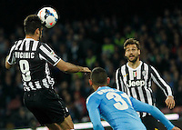 Gonzalo Higuain   in action during the Italian Serie A soccer match between SSC Napoli and Juventus FC   at San Paolo stadium in Naples, March 30 , 2014